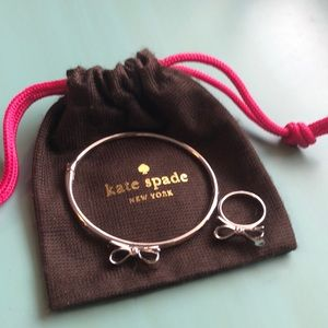 "Kate Spade ""Love Notes"" Bangle & Ring Set"